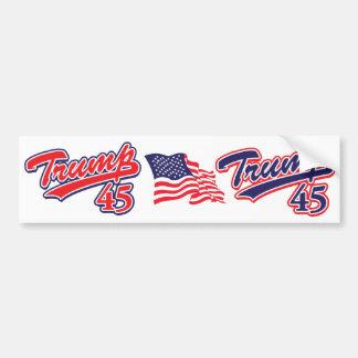 Trump-45-RED Bumper Sticker
