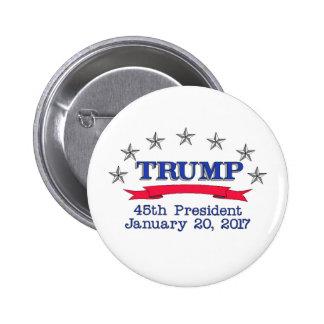 Trump 45th President Button