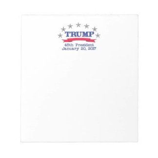Trump 45th President Notepad