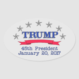 Trump 45th President Oval Sticker