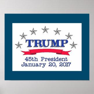 Trump 45th President Poster