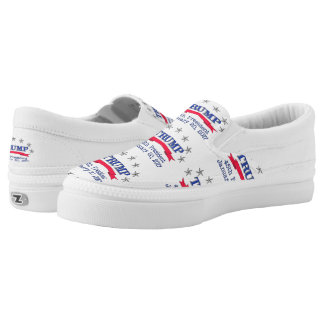 Trump 45th President Slip-On Sneakers