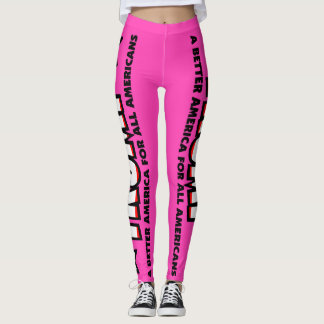 Trump! A Better America for All! PINK LEGGINGS