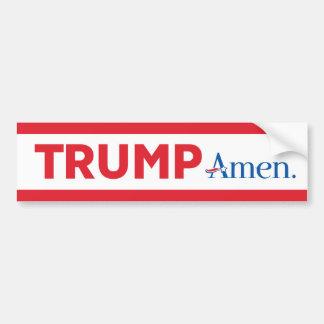 Trump Amen Bumper Sticker