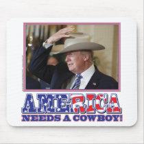 TRUMP-AMERICA-COWBOY MOUSE PAD