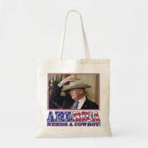 TRUMP-AMERICA-COWBOY TOTE BAG