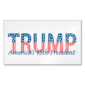 Trump, America's 45th President Magnetic Business Card