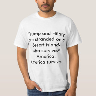 Trump and Hilary funny t-shirt