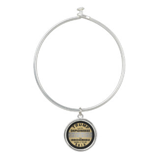 Trump And The Deplorables Funny Fake Band Chic Bangle Bracelet