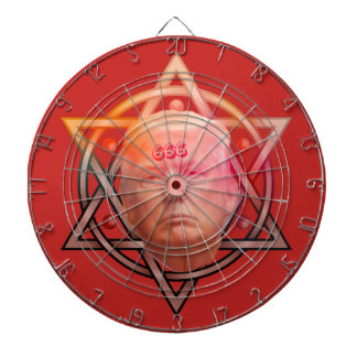Trump as Anti-Christ on Pentacle Personalized Dartboard With Darts