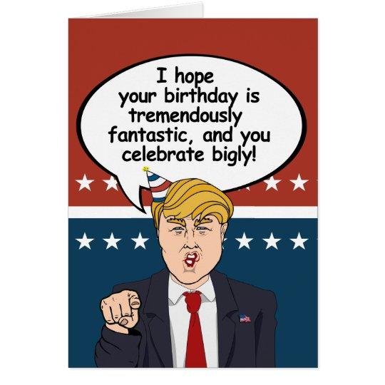 Amazon Com Funny Birthday Card Donald Trump Birthday: I Hope Your Birthday Is Trem