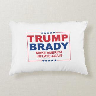 Trump Brady 2016: Make America Inflate Again Accent Pillow
