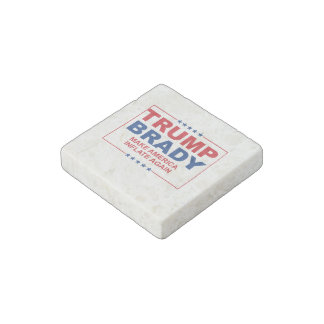 Trump Brady 2016: Make America Inflate Again Stone Magnet