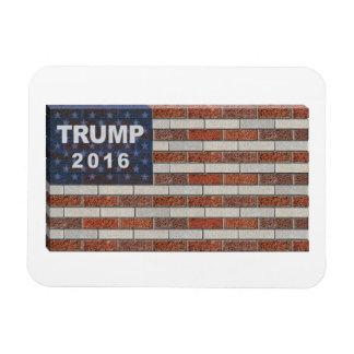 Trump Brick Wall Flag Rectangular Photo Magnet