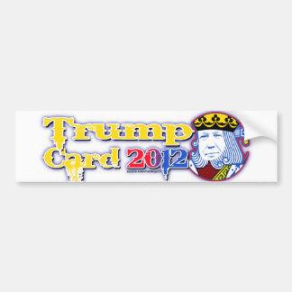 trump card 2012 bumper sticker