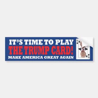 Trump Card Bumper Sticker