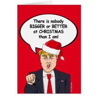 Trump Christmas Card - Nobody Bigger or Better at
