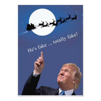 Trump Christmas: Santa is fake Card