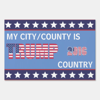 Trump Country Customized Yard Sign