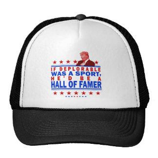 Trump Deplorable Hall of Fame Trucker Hat