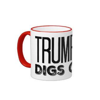 Trump Digs Coal - Trump 2016 Ringer Mug