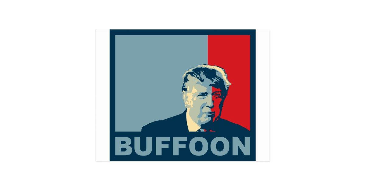 TrumpDrumpf Buffoon Hope Colors Postcard Zazzle
