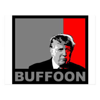Trump/Drumpf: Buffoon Postcard