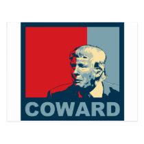 Trump/Drumpf: Coward (Hope colors) Postcard