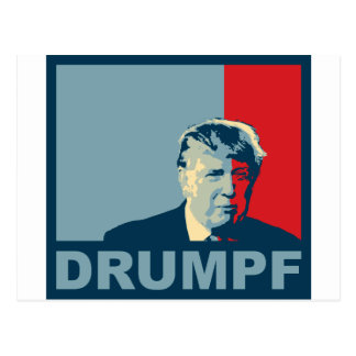 Trump = Drumpf (Hope colors) Postcard
