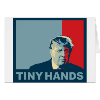 Trump/Drumpf: Tiny Hands (Hope colors) Card