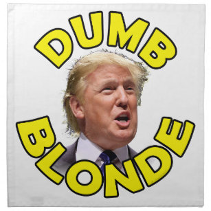 Image result for trump dumb blonde