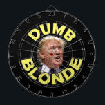 "Trump: Dumb Blonde Dart Board<br><div class=""desc"">We never thought it was very nice to call anyone a dumb blonde. But then Donald Trump opened his mouth...  (Photo credit: Gage Skidmore. Used with permission.)</div>"