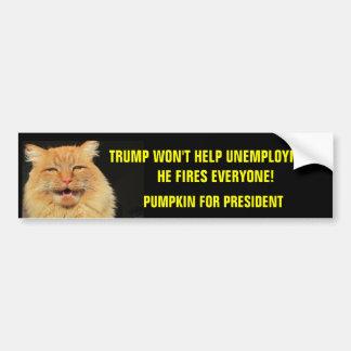 Trump Fires Everyone  Pumpkin for President Bumper Sticker