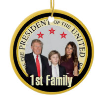 TRUMP First Family Ceramic Ornament