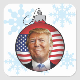Trump for Christmas Square Sticker