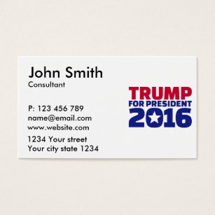 Donald trump for president business cards templates zazzle trump for president 2016 business card colourmoves