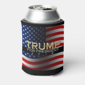 Trump for President 2016 Gold Political Campaign Can Cooler