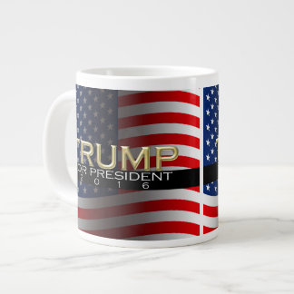 Trump for President 2016 Gold Political Campaign Giant Coffee Mug
