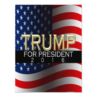 Trump for President 2016 Gold Political Campaign Magnetic Card