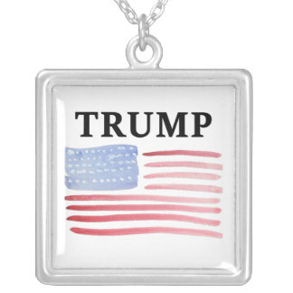 Trump For President 2016 Square Pendant Necklace