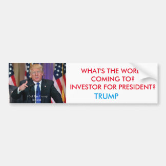 Trump For President Bumper Sticker