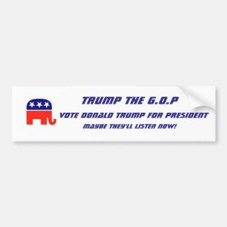 Trump for president bumper sticker