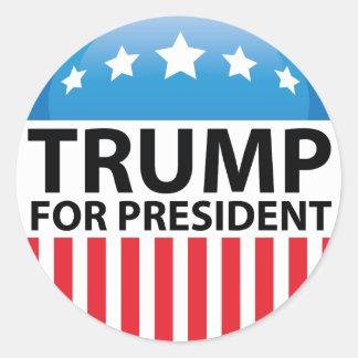 Trump For President Classic Round Sticker
