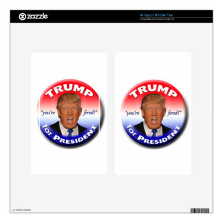 TRUMP for President Decals For Kindle Fire