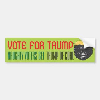 TRUMP FOR PRESIDENT Election Bumpersticker Bumper Sticker