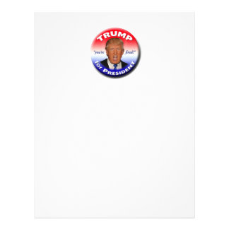 TRUMP for President Letterhead