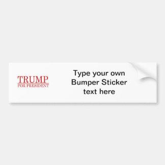 TRUMP FOR PRESIDENT (Red) Bumper Sticker