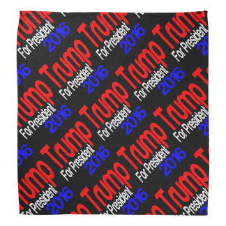 Trump For President Red White and Blue Bandana