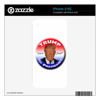 TRUMP for President Skin For The iPhone 4S
