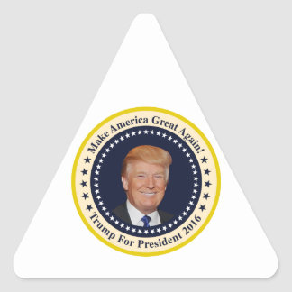 Trump for president triangle sticker